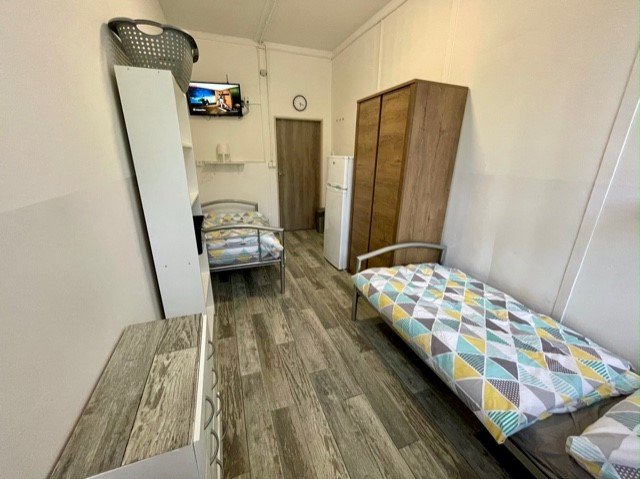 Pokoj na brněnské ubytovně